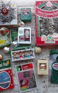 Kitschy Christmas Retro DECORATION Lot NOS
